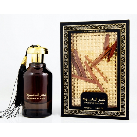 Lattafa Fakhar Al Oud arabiškas aromatas moterims ir vyrams, EDP, 100ml.