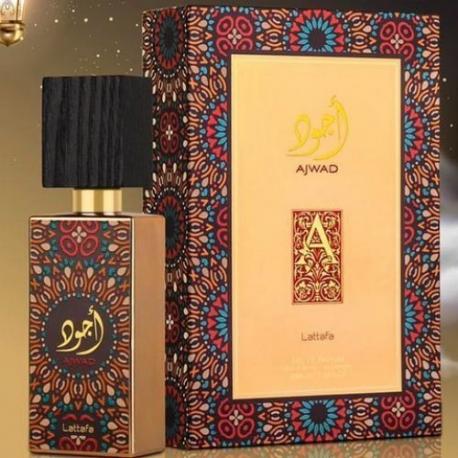 Lattafa Ajwad originalus arabiškas aromatas moterims ir vyrams, EDP, 60ml.