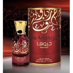 Lattafa Huroof originalus arabiškas aromatas moterims ir vyrams, 50ml, EDP.